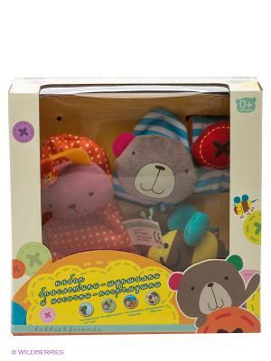 Развивающая игрушка bobby&friends. Цвет: бежевый