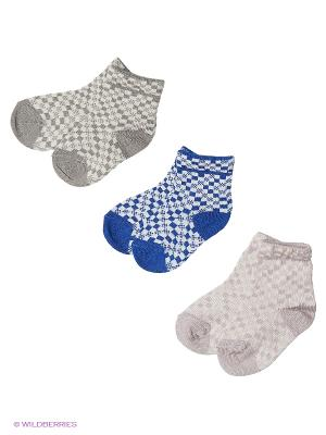 Носки - 3 пары Гамма. Цвет: серый, синий