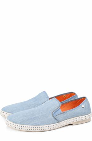 Текстильные эспадрильи на резиновой подошве Rivieras Leisure Shoes. Цвет: голубой