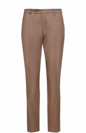 Хлопковые брюки прямого кроя Berwich. Цвет: бежевый