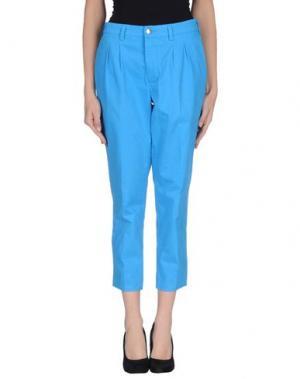 Повседневные брюки (+) PEOPLE. Цвет: лазурный