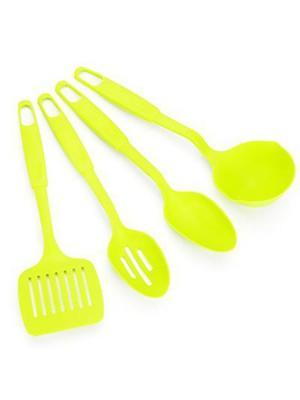 Набор кухонных принадлежностей 4 пр., пластик, зеленый, арт С1004 Vetta. Цвет: зеленый