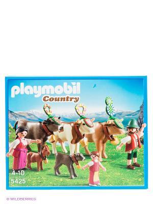 Альпийский фестиваль Playmobil. Цвет: бежевый, розовый, желтый, темно-зеленый, темно-бежевый