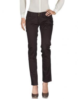 Повседневные брюки PHARD. Цвет: темно-коричневый