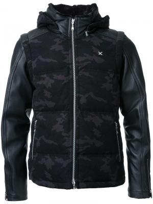 Спортивная куртка с камуфляжным принтом Guild Prime. Цвет: чёрный