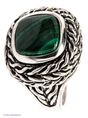 Кольцо Migura. Цвет: серебристый, зеленый