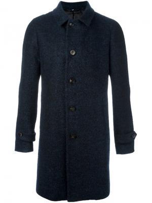 Однобортное пальто Hevo. Цвет: синий