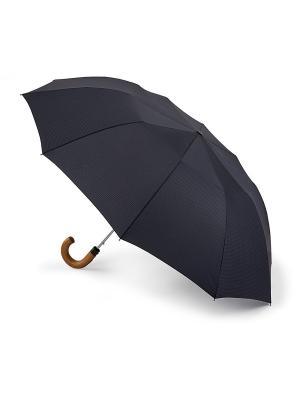 Зонт Gingham Fulton. Цвет: черный