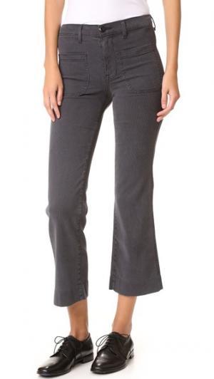 Укороченные брюки в морском стиле THE GREAT.. Цвет: серый