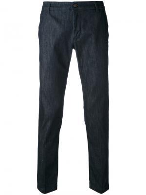 Зауженные джинсы Entre Amis. Цвет: синий