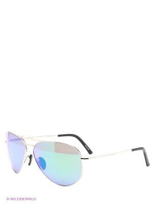 Солнцезащитные очки Porsche Design. Цвет: серебристый, синий