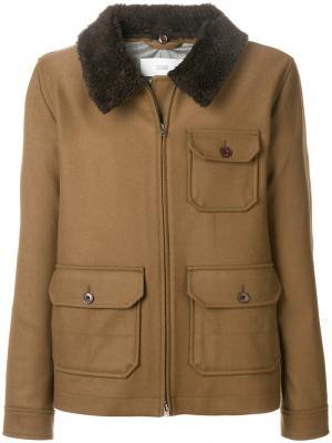 Куртка с накладными карманами Closed. Цвет: коричневый