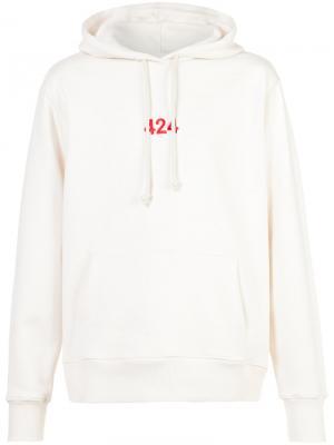 Толстовка с капюшоном 424 Fairfax. Цвет: белый