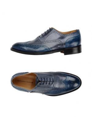Обувь на шнурках LEONARDO PRINCIPI. Цвет: грифельно-синий