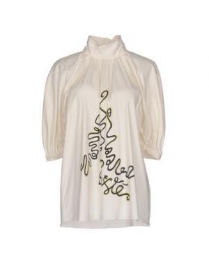Блузка EXTE. Цвет: белый