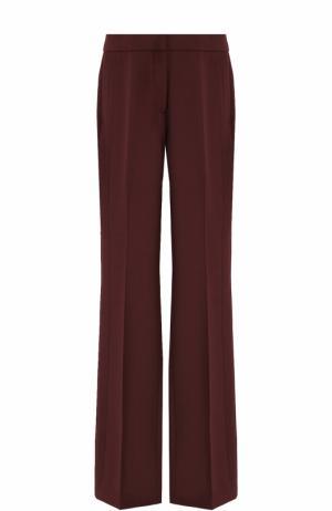 Расклешенные брюки со стрелками Victoria by Beckham. Цвет: бордовый