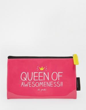 Happy Jackson Большой пенал Queen Of Awesome. Цвет: мульти
