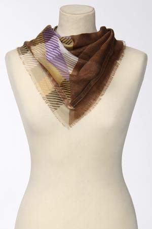 Платок Frantelli. Цвет: коричневый, песок, фиолетовый