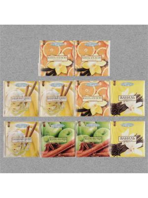 Аромасаше  Запахи удовольствия, 10 штук: 2 аромата по 3 шт и Индокитай. Цвет: светло-желтый