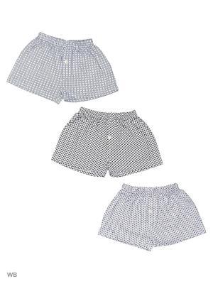 Трусы боксеры для мальчиков 3 шт Oztas kids' underwear. Цвет: черный, белый