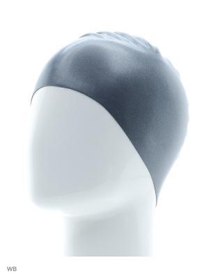 Шапочка для плавания Speedo. Цвет: серый, серебристый