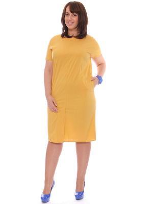 Платье SVESTA. Цвет: желтый