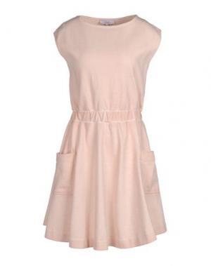 Короткое платье WHITE TENT. Цвет: бежевый