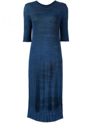 Платье миди с принтом тай-дай Raquel Allegra. Цвет: синий