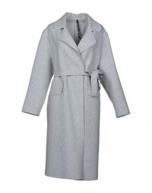 Пальто SARA LANZI. Цвет: светло-серый