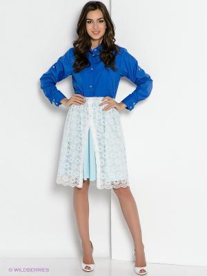 Платье Fashion.Love.Story.. Цвет: синий, белый