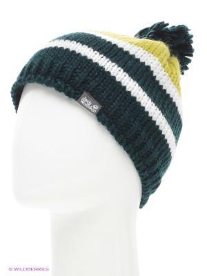 Шапка BOBBLE XT CAP Jack Wolfskin. Цвет: темно-зеленый