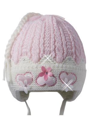 Шапка Ambra. Цвет: молочный, бледно-розовый