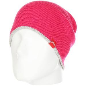 Шапка носок  Double Side Pink Lil Kings. Цвет: розовый,серый