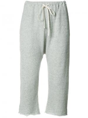Укороченные спортивные брюки R13. Цвет: серый