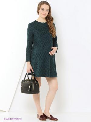 Платье One plus. Цвет: зеленый