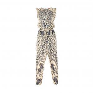 Комбинезон с брюками рисунком RENE DERHY. Цвет: рисунок бежевый