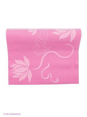 Коврик для фитнеса и йоги Alonsa. Цвет: розовый
