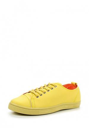 Кеды Sweet Shoes. Цвет: желтый