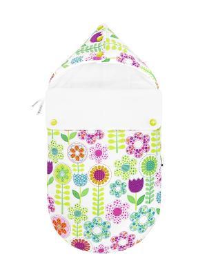 Конверт для новорождённого Лети, лепесток! (весна/осень) MIKKIMAMA. Цвет: белый, зеленый, салатовый, голубой, фиолетовый, оранжевый, розовый, желтый
