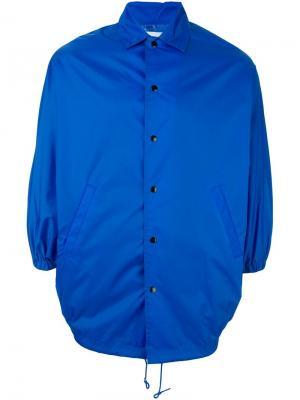 Куртка-пончо Ganryu Comme Des Garcons. Цвет: синий