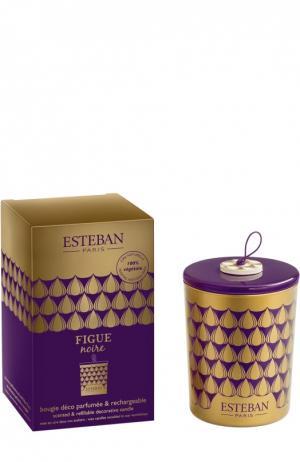 Декоративная арома-свеча Черный инжир Esteban. Цвет: бесцветный