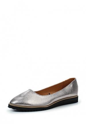 Туфли Topway. Цвет: серебряный