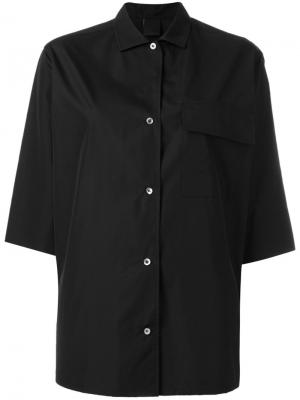 Рубашка с рукавами три четверти Aspesi. Цвет: чёрный