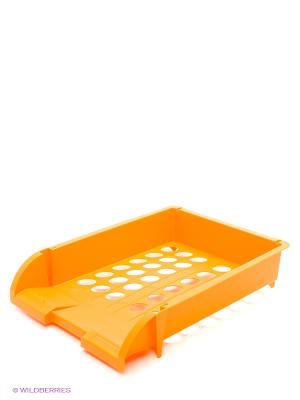 Лоток горизонтальный  пластиковый, оранжевый Centrum. Цвет: оранжевый