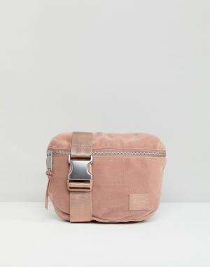 Herschel Supply Co Бархатная сумка-кошелек на пояс Fifteen. Цвет: розовый