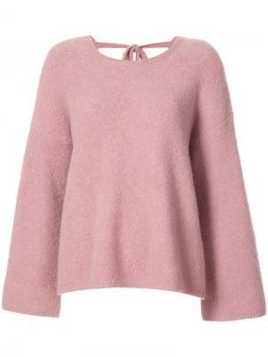 Джемпер с завязками на спине Co. Цвет: розовый и фиолетовый