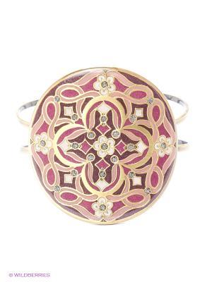 Браслет Clara Bijoux. Цвет: лиловый, бежевый, розовый