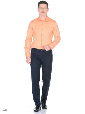 Рубашка Fitmens. Цвет: оранжевый