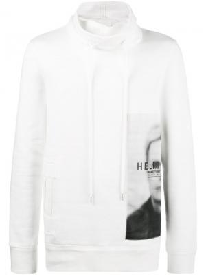 Толстовка ghost Helmut Lang. Цвет: белый