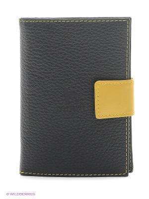 Бумажник водителя Dimanche. Цвет: черный, желтый